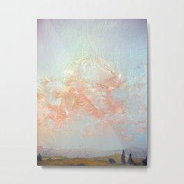Farnese Pink Glow Metal Print