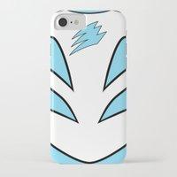 power ranger iPhone & iPod Cases featuring Cyan Spirit Ranger by JoSumdac