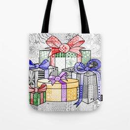 Coloured Christmas Presents Tote Bag