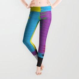 color tv bar#glitch#effect Leggings
