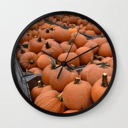 Pumpkin Picking 2 Wall Clock