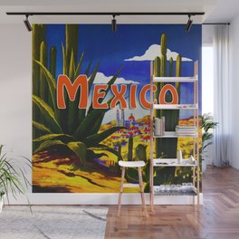 Vintage Mexico Village Travel Wall Mural