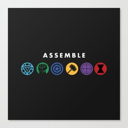 Assemble Canvas Print