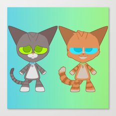 Cat Buddies (Max and Dave Cat) Canvas Print