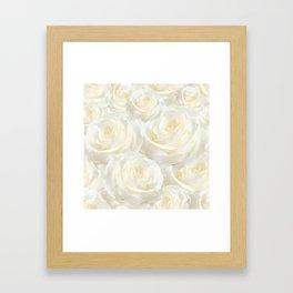 Ivory Roses Framed Art Print