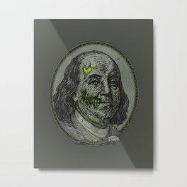 BENJAMIN FREAKLIN Metal Print