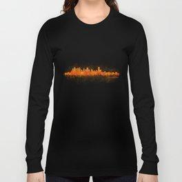 Houston City Skyline Hq v3 Long Sleeve T-shirt