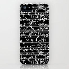 Hand Written Sheet Music // Black iPhone Case