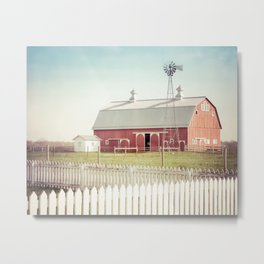 Farm Life ~ Red Barn Metal Print