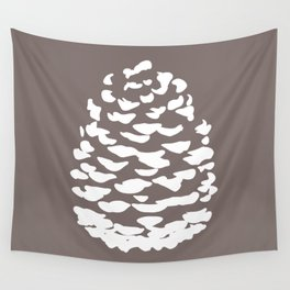 Pinecone Taupe Brown Wall Tapestry