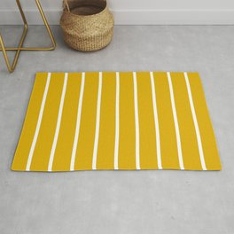 vertical stripes on mustard yellow Rug