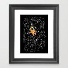 Lost Little Diver Framed Art Print