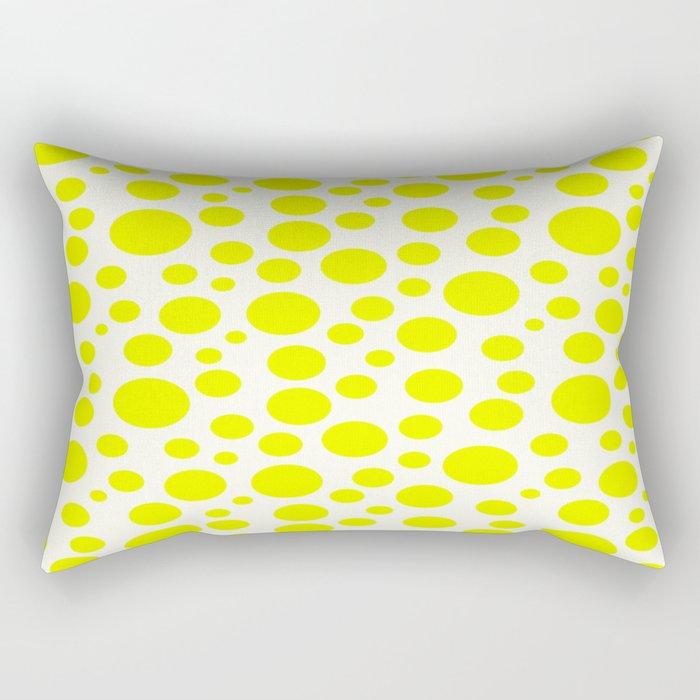 Polka Dot Plot: Yellow Rectangular Pillow