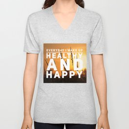 A Health Affirmation Unisex V-Neck