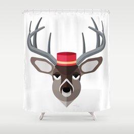 Deer Geo-Animal Friend Shower Curtain