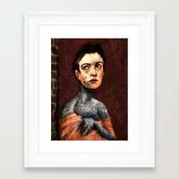 les miserables Framed Art Prints featuring Les Miserables- Fantine by Mawhyah
