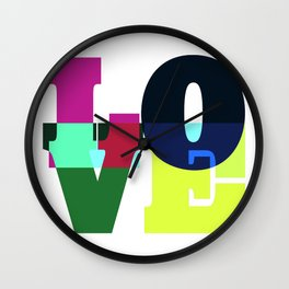 One Word: LOVE Wall Clock