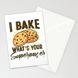 Pastry Chef Baker I Bake What's Your Superpower Cookie Stationery Cards