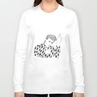 bowie Long Sleeve T-shirts featuring Bowie by Shirley Moneyhon