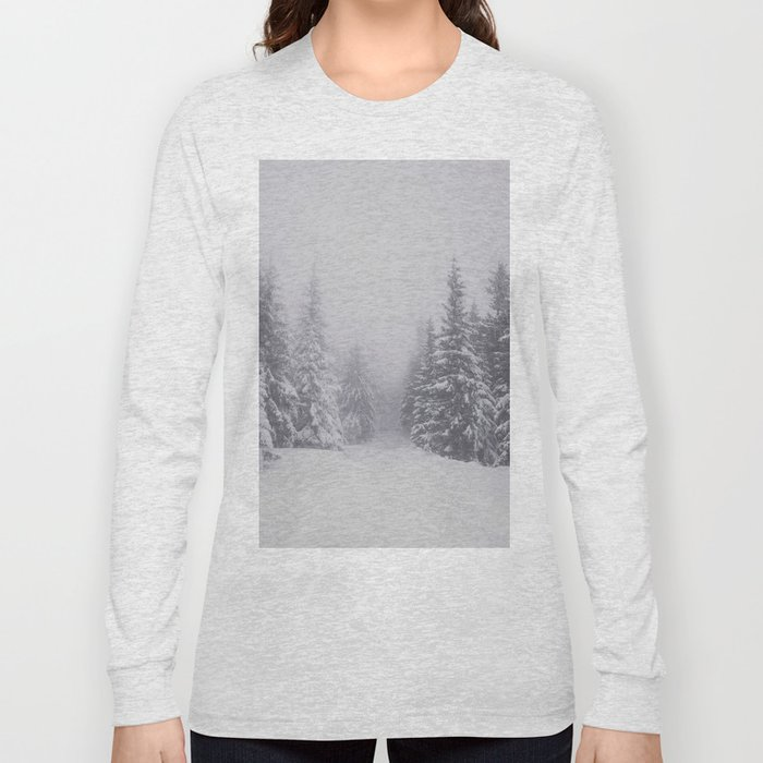 Winter walk - Landscape and Nature Photography Long Sleeve T-shirt