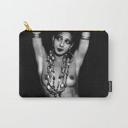 Jazz Age Josephine Baker in Folies Bergère Bananas Costume black and white photography Carry-All Pouch