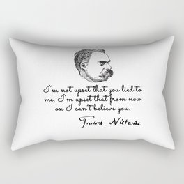 Quotes by nietzsche Rectangular Pillow
