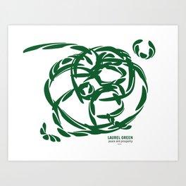 LAUREL GREEN: peace and prosperity Art Print