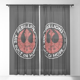 Rebellions are Built on Hope Sheer Curtain