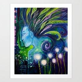Blue Lady Art Print