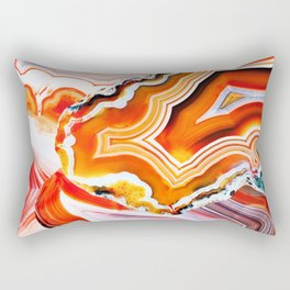 The Vivid Imagination of Nature, Layers of Agate Rectangular Pillow