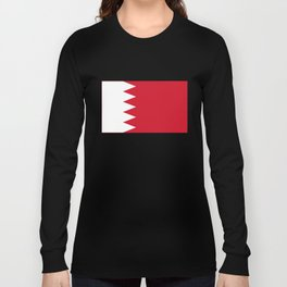 The flag of the Kingdom of Bahrain - Authentic version Long Sleeve T-shirt