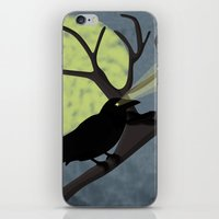 crow iPhone & iPod Skins featuring Crow by Nir P