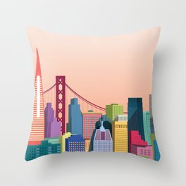 City San Francisco Throw Pillow