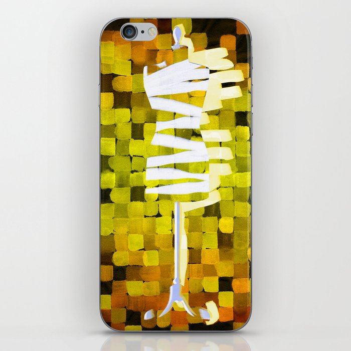 Dummy Run #1, yellow iPhone Skin
