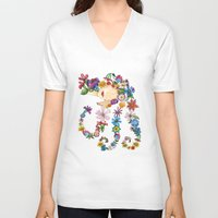 sleeping beauty V-neck T-shirts featuring Sleeping Beauty by Shelley Ylst Art