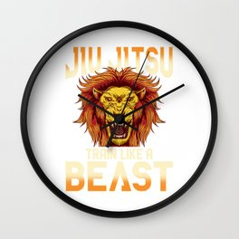 Train Like a Beast BJJ Jiu Jitsu Trainer & Coach Wall Clock