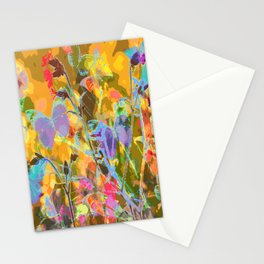 Butterflies flying in meadow - lovely colors and details - summer mood Stationery Cards