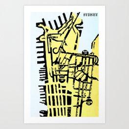 SYDNEY (MAPSTAT SERIES) Art Print