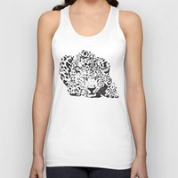 leopard Tank Tops featuring Leopard  by Karen Hischak