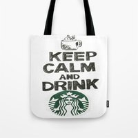 starbucks Tote Bags featuring Starbucks by jrgff
