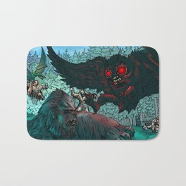 MOTHMAN DIVE BOMBING SASQUATCH Bath Mat