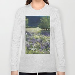 Fields of White and Purple Long Sleeve T-shirt