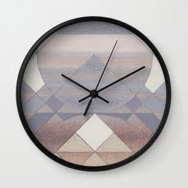 Pyramid Sun Fog Wall Clock