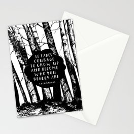Courage (Designed for The YA Chronicles) Stationery Cards