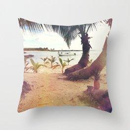 Beach Island Refuge Throw Pillow