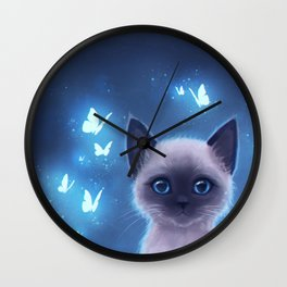 Siamese kitten Wall Clock