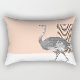 Ostrich in French Rectangular Pillow