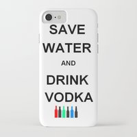 vodka iPhone & iPod Cases featuring Drink Vodka by Lyre Aloise