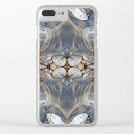 Alien Eggs (Mandala-esque #12c) Clear iPhone Case