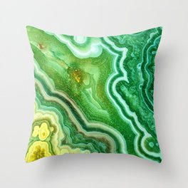 Green Onyx Marble Throw Pillow